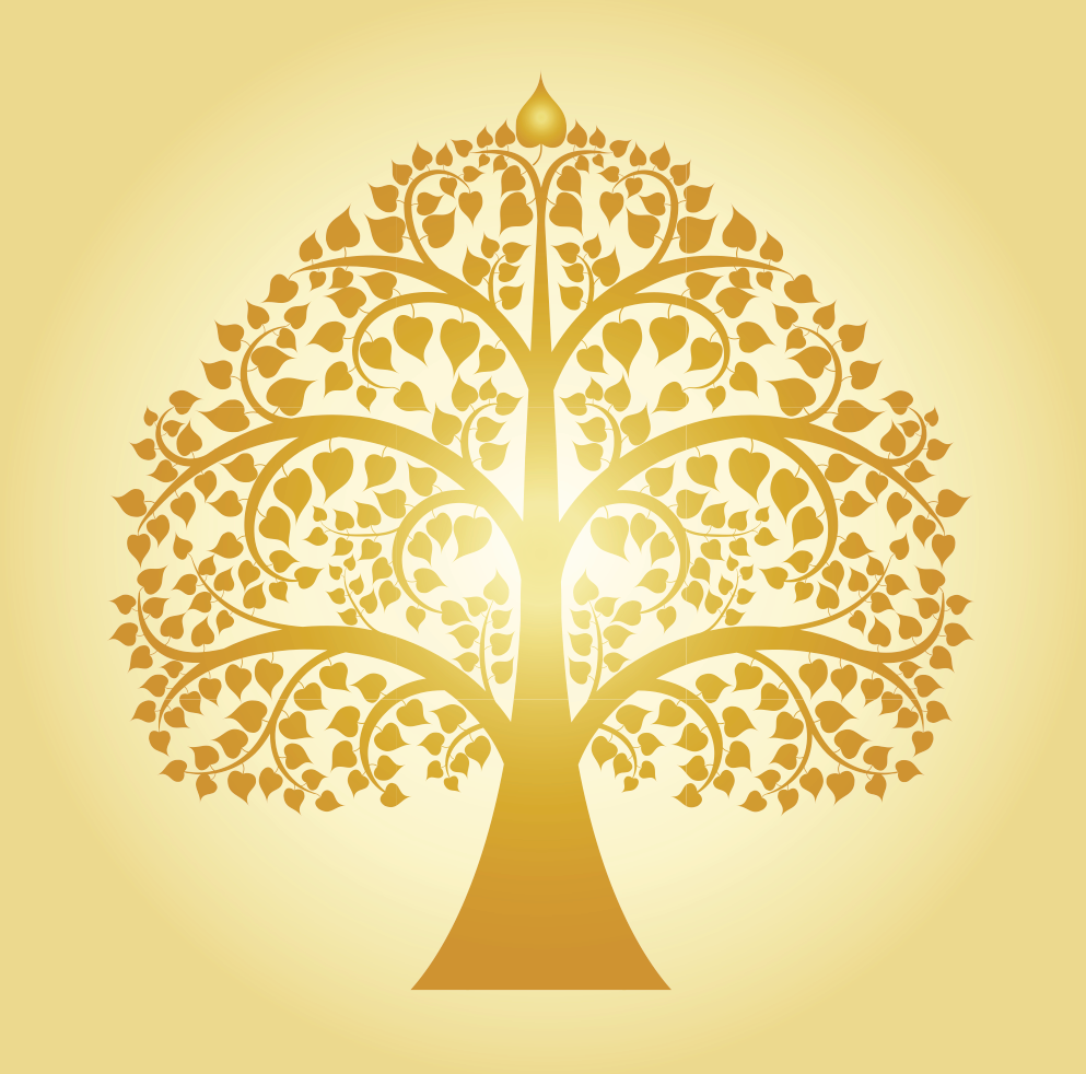 Bodhi Tree- The root of suffering is attachment.